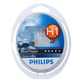 Лампы Philips H1 (55) Blue Vision 12В 2шт.